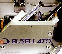 Кромкооблицовочный станок Flexa 200. Узел обработки свесов по торцу.