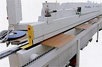 Кромкооблицовочный станок Flexa 200. Боковая поддерживающая панель.