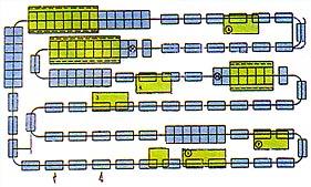 Конвеерная линия из нескольких лакокрасочных машин SUN FORD